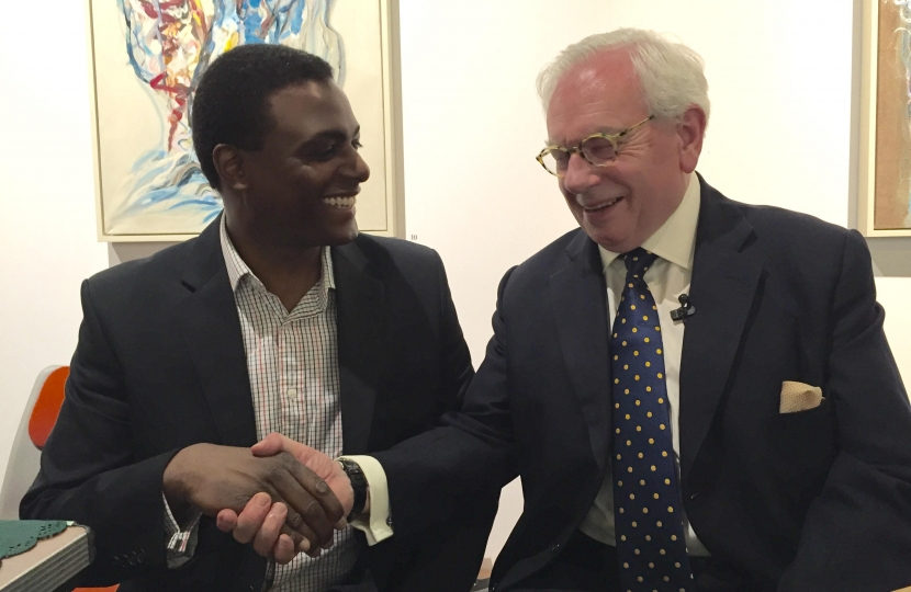 Darren Henry with David Starkey