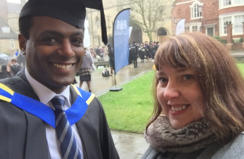 Darren Henry Graduation at University of Lincoln with Caroline Henry