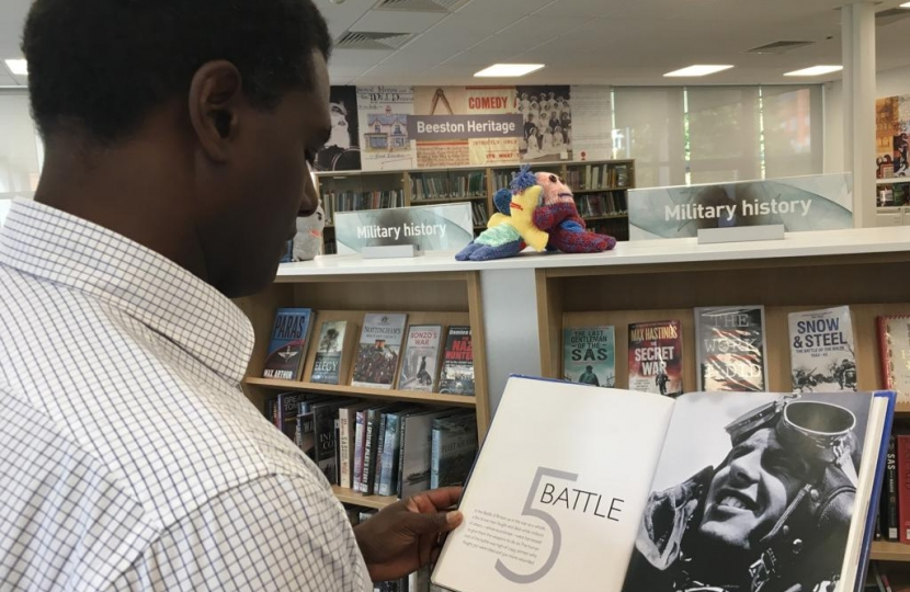 Darren Henry at Eastwood Library