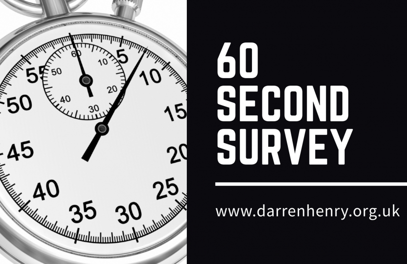 Darren Henry 60 Second Survey