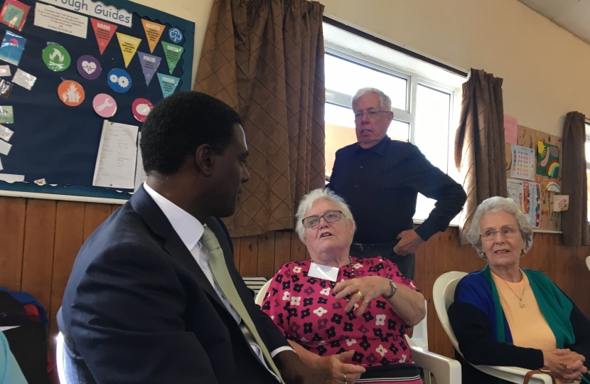 Darren Henry Conservative MP candidate Broxtowe at Age Concern