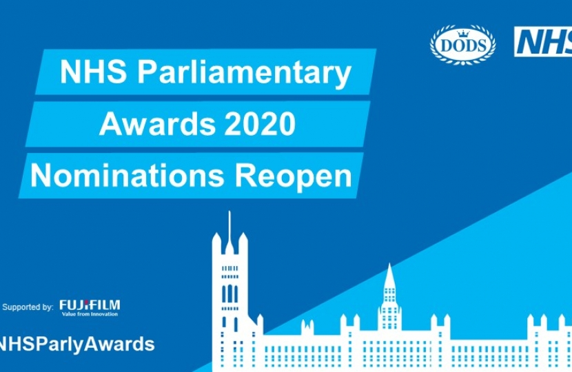 NHS Parliament Awards Reopen