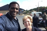 Darren Henry with Cllr Jan Goold in Stapleford North, Broxtowe Constituency